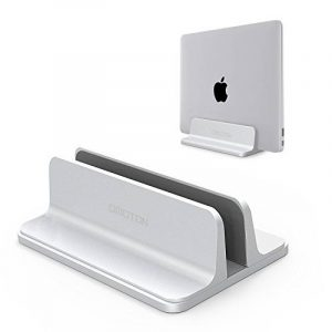Support Ordinateur Portable, Support Ajustable Pour Macbook/Notebook, Claviers, PC, Smarthphone Dock Stand Vertical en Alliage d'Aluminium Argent de la marque image 0 produit