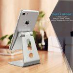 Support Téléphone, Lamicall Multi Position iPhone Dock : Support Dock pour iPhone 7 6 6s 6s plus 5s 5 4s, Nintendo Switch, HUAWEI, Samsung S3 S4 S5 S6 S7 S8, Bureau, Accessoires, Aluminium, D'autres Smartphones - Argenté de la marque image 1 produit