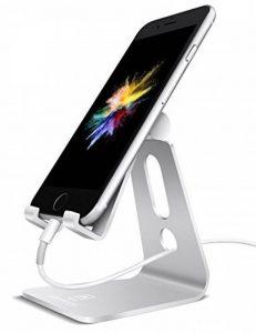 Support Téléphone, Lamicall Multi Position iPhone Dock : Support Dock pour iPhone 7 6 6s 6s plus 5s 5 4s, Nintendo Switch, HUAWEI, Samsung S3 S4 S5 S6 S7 S8, Bureau, Accessoires, Aluminium, D'autres Smartphones - Argenté de la marque image 0 produit