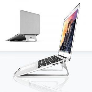 Support universel pour ordinateur portable Abovetek en aluminium argenté (27,9 cm ~ 38,1 cm) – système de refroidissement, station d'accueil pour ordinateur portable solide – prévient la fatigue du cou, des yeux, des poignets et des épaules – Apple MacBoo image 0 produit