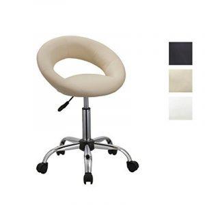 Tabouret À Roulettes Crème - Duhome 171XF- Hauteur Ajustable Chaise À Roulettes Avec Dossier de la marque image 0 produit