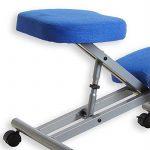 Tabouret ergonomique ROBERT aluminium/bleu de la marque image 3 produit