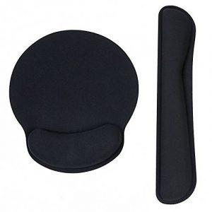 Tapis de Souris Repose Poignet Clavier Ergonomique Gel Mouse Pad Gaming, Base en Caoutchouc Antidérapant,Noir de la marque image 0 produit