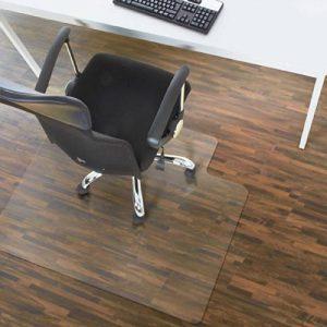 Tapis protège-sol Office Marshal® en PC pour sols durs avec languette | forme optimisée - surface lisse + dos antidérapant | tailles différentes - 90x120cm de la marque image 0 produit