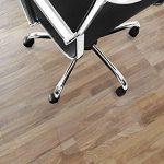 Tapis protège-sol Office Marshal® NEO pour parquets, stratifiés | 10 tailles avec ou sans languette | transparent en vinyle | épaisseur env. 1,5mm | 114x135cm avec languette de la marque image 2 produit