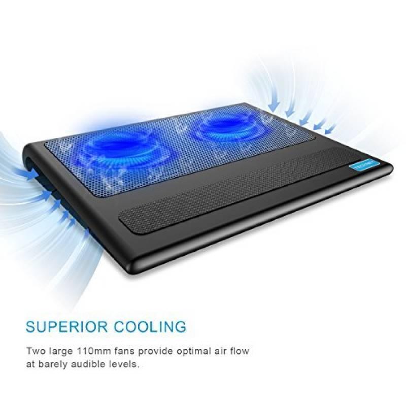 TeckNet® Refroidisseurs Pour Ordinateur Portable Et De Notebook, équipé de  2 ports USB, Adapté Pour 9-16 pouces, Avec 2 Ventilateurs Silencieu de la  marque 7b96ccd1ae4d