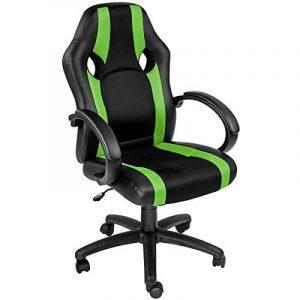 TecTake Chaise de bureau fauteuil siège racing sport tissu - diverses couleurs au choix - (vert | no. 402158) de la marque image 0 produit