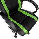 TecTake Chaise de bureau fauteuil siège racing sport tissu - diverses couleurs au choix - (vert | no. 402158) de la marque image 4 produit