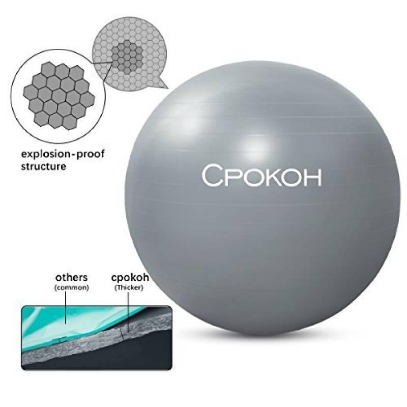 CPOKOH Ballons De Gymnastique Ballon Fitness Avec Pompe Deal Pour La Le Yoga Pilates Et Resistant Systeme Anti Eclatement