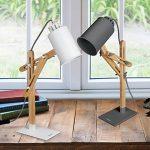 Tomons Design Lampe de bras oscillant à plusieurs angles en bois ,Table de bureau ,Table de chevet Lecture du travail et d'étude , E 26/27 socket ,Plusieurs couleurs de lumière,25W et sous gris de la marque image 6 produit