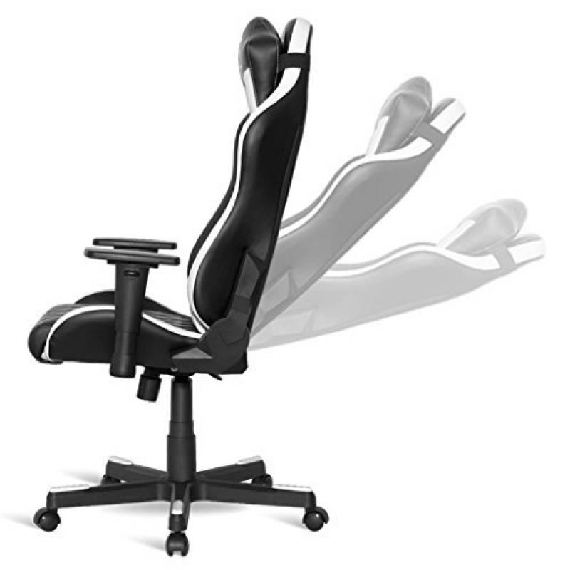Siege Gamer Chaise Bureau Gaming Chair Racing Dossier Reglable Et Ergonomique Inclinable 180 Assise En Hauteur Avec