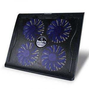 """Vanble Refroidisseur PC Portable,Refroidissement Rapide pour Ordinateur Portable de 12""""-17"""",4 Ventilateurs Support Ventilé,2 x USB de la marque image 0 produit"""