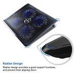 """Vanble Refroidisseur PC Portable,Refroidissement Rapide pour Ordinateur Portable de 12""""-17"""",4 Ventilateurs Support Ventilé,2 x USB de la marque image 3 produit"""