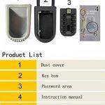 Varanda Boîte à clés, montage mural Clé de sécurité Safe Box Bouton Cadenas Combinaison Boîte à clés/KEY Safe, étanche Clé Keeper Gris/noir pour partager vos clés en toute sécurité de la marque image 2 produit