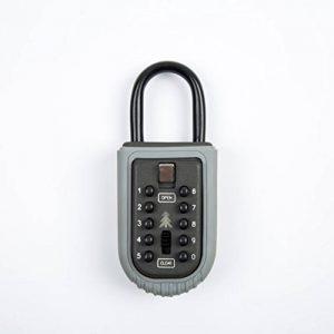 Varanda Boîte à clés, montage mural Clé de sécurité Safe Box Bouton Cadenas Combinaison Boîte à clés/KEY Safe, étanche Clé Keeper Gris/noir pour partager vos clés en toute sécurité de la marque image 0 produit