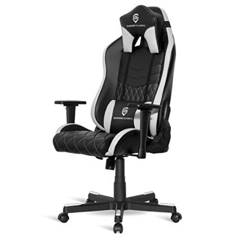 Gamer Chaise Bureau Gaming Chair Racing Dossier Reglable Et Ergonomique Inclinable 180 Assise En Hauteur Avec Verin