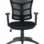 Viva Office Chaise ergonomique pour bureau en maille avec dossier moyen, appui-tête et accoudoirs réglables, Noir de la marque image 5 produit
