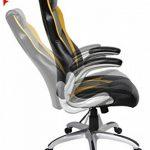 Viva Office Chaise Gaming ergonomique en cuir régénéré, avec dossier haut, accoudoirs rembourrés et amovibles, Noir et Jaune de la marque image 4 produit
