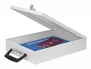 Wedo 1021537 Coffre à documents A4 Format 35,5 x 26,0 x 6,7 cm Gris lumière de la marque image 0 produit