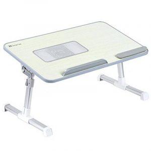 XGEAR Entièrement réglable pour ordinateur portable Table Panneau MDF | Support ordinateur portable portable avec haut-Ventilateur | Prime pliant Lap Desk(Gris) de la marque XGEAR image 0 produit