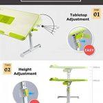 XGEAR Entièrement réglable pour ordinateur portable Table Panneau MDF | Support ordinateur portable portable avec haut-Ventilateur | Prime pliant Lap Desk(Gris) de la marque XGEAR image 2 produit