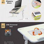 XGEAR Entièrement réglable pour ordinateur portable Table Panneau MDF | Support ordinateur portable portable avec haut-Ventilateur | Prime pliant Lap Desk(Gris) de la marque XGEAR image 3 produit