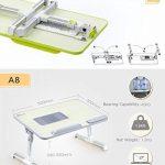 XGEAR Entièrement réglable pour ordinateur portable Table Panneau MDF | Support ordinateur portable portable avec haut-Ventilateur | Prime pliant Lap Desk(Gris) de la marque XGEAR image 4 produit