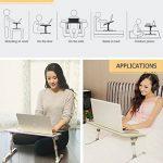 XGEAR Entièrement réglable pour ordinateur portable Table Panneau MDF | Support ordinateur portable portable avec haut-Ventilateur | Prime pliant Lap Desk(Gris) de la marque XGEAR image 5 produit
