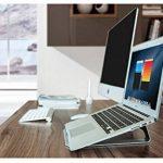 Zolion® Laptop Stand solide haut de gamme simple en aluminium de qualité avec coussinets en silicone, #1 Universal Laptop Stand pour confort ergonomique aussi un Stand de refroidissement pour ordinateur portable. Pour Macbook Pro iPad Pro Surface Pro et t image 2 produit
